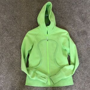 💚 Lululemon scuba hoodie stretch faded zap size 6